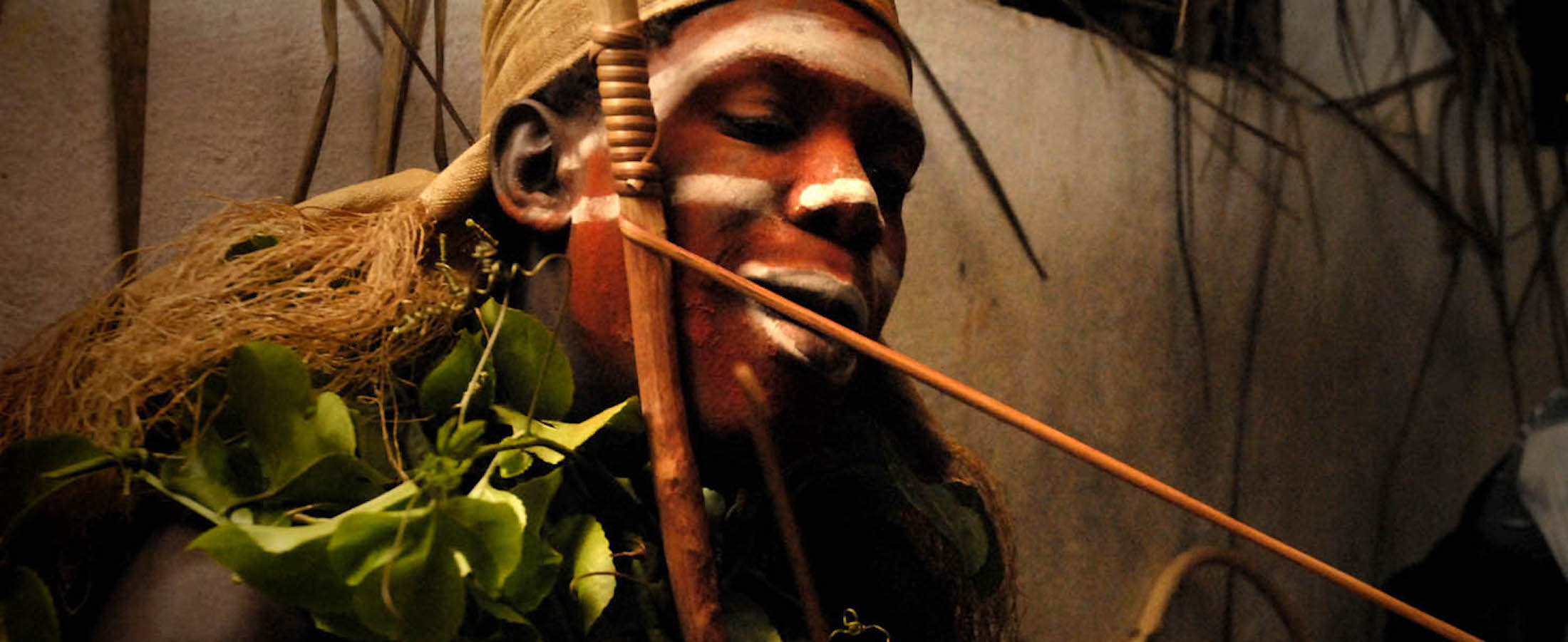 Bwiti man in initiation Iboga ritual with Ibogaine